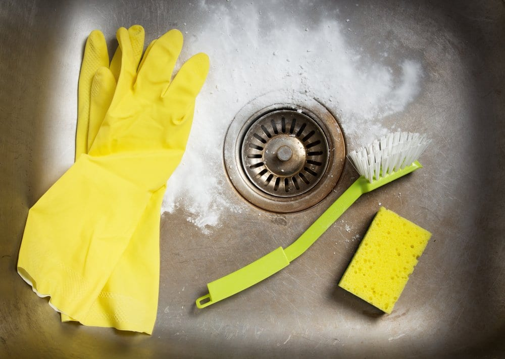 disinfection tools in sink